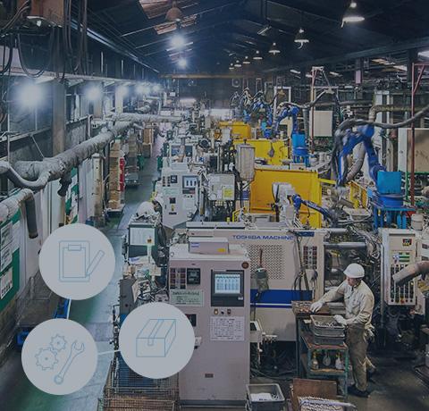 製販一体による一貫生産体制